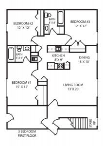 Three Bedroom Floor Plan